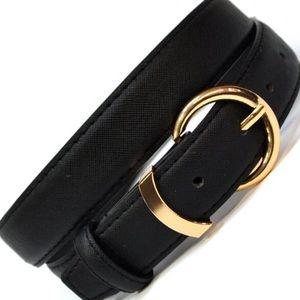 Classic Gold Buckle Black Belt